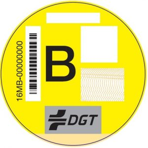 clasificacion vehiculos segun contaminacion foto pegatina categoria b