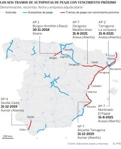 desprivatizacion de las autopistas en españa plano de autopistas