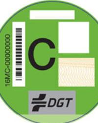 clasificacion vehículos segun contaminacion foto pegatina categoria c