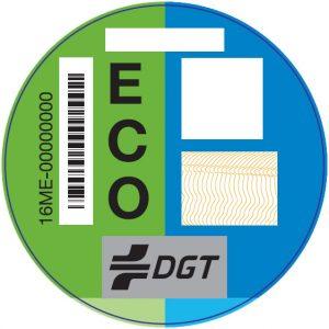 Clasificacion vehiculos segun contaminacion foto pegatina eco